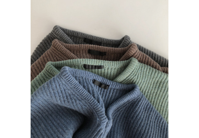 vivian wool color knit ( 울50 )