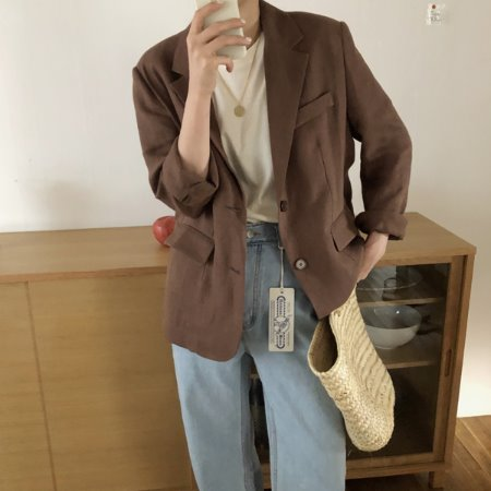 french linen jk ( 린넨 100% )