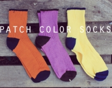 patch color socks (3color!)