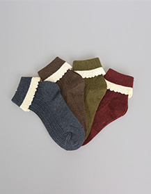 golgi - lace socks set (4colors set!)