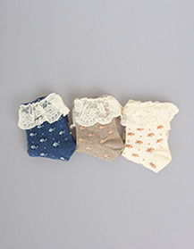 flower lace sock! (3컬러세트!)