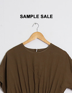 (SAMPLE SALE) BROWN LONG DRESS