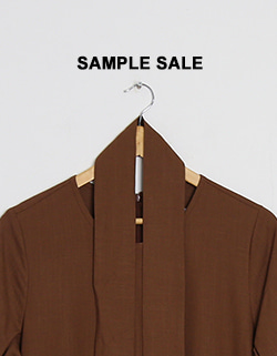 (SAMPLE SALE) LINEN TIE DRESS - BROWN