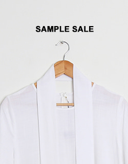 (SAMPLE SALE) LINEN TIE DRESS - WHITE