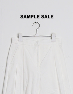 (SAMPLE SALE) MIU WIDE SLACKS - WHITE