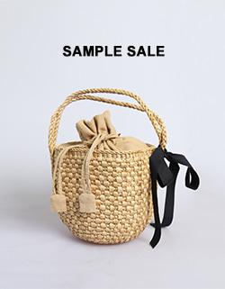 (SAMPLE SALE) RATTAN RIBBON BAG