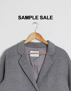 (SAMPLE SALE) HAND MADE COAT - 그레이