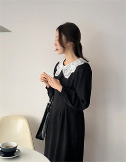 (U) amy lace collar dress