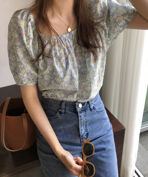 rooming flower blouse( 2ways)